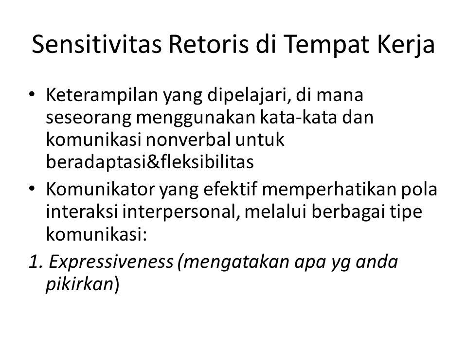 Sensitivitas Retoris di Tempat Kerja