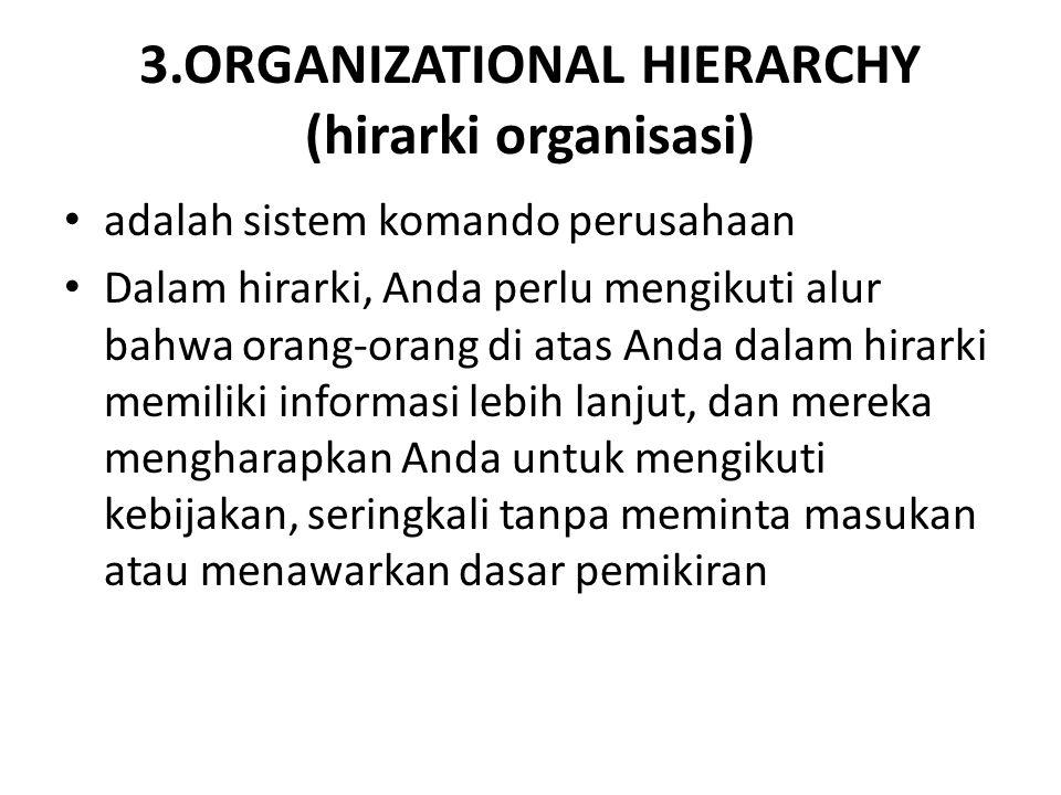 3.ORGANIZATIONAL HIERARCHY (hirarki organisasi)