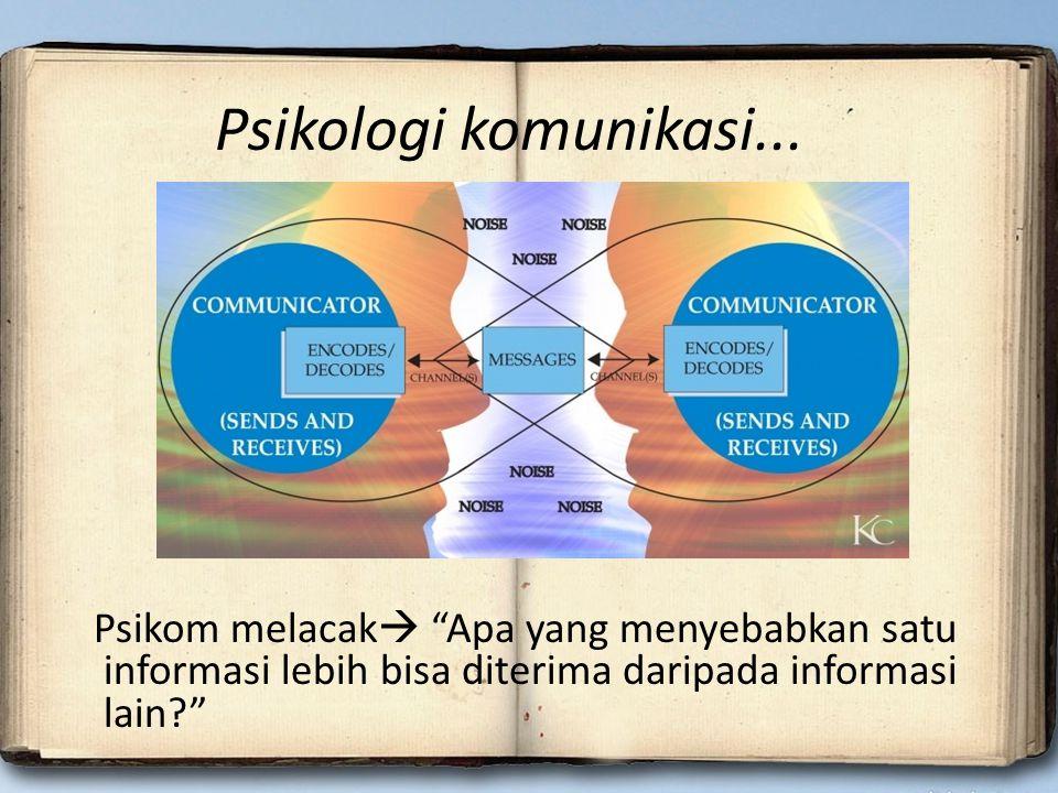 Psikologi komunikasi...