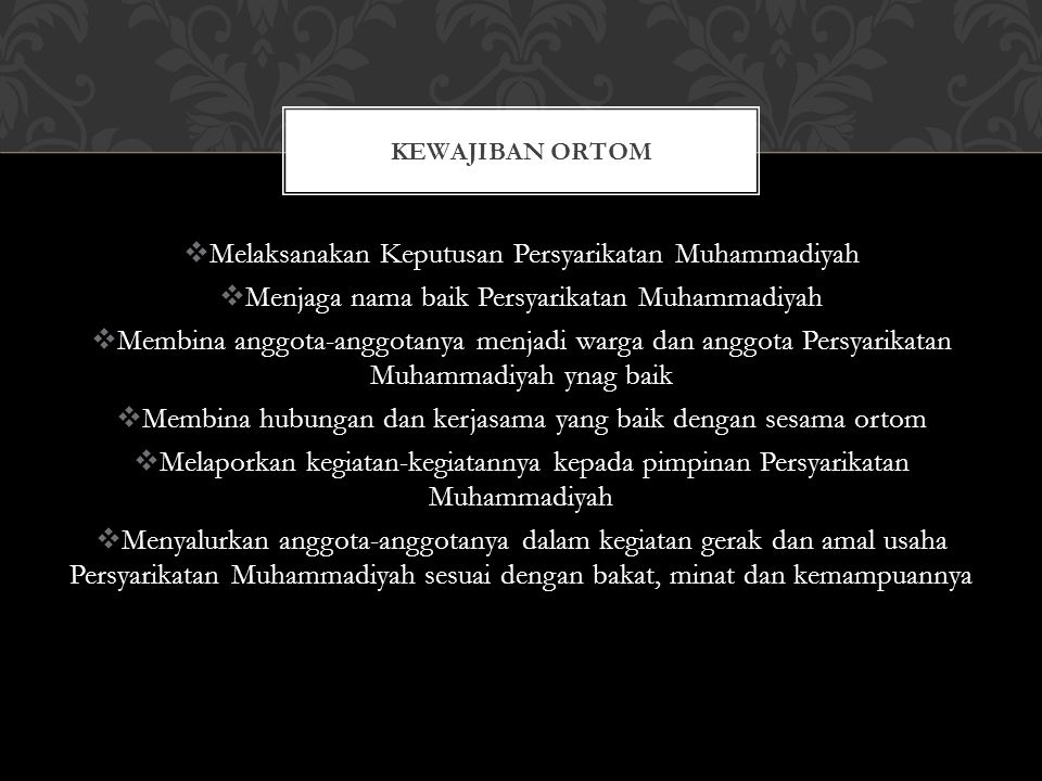 Melaksanakan Keputusan Persyarikatan Muhammadiyah