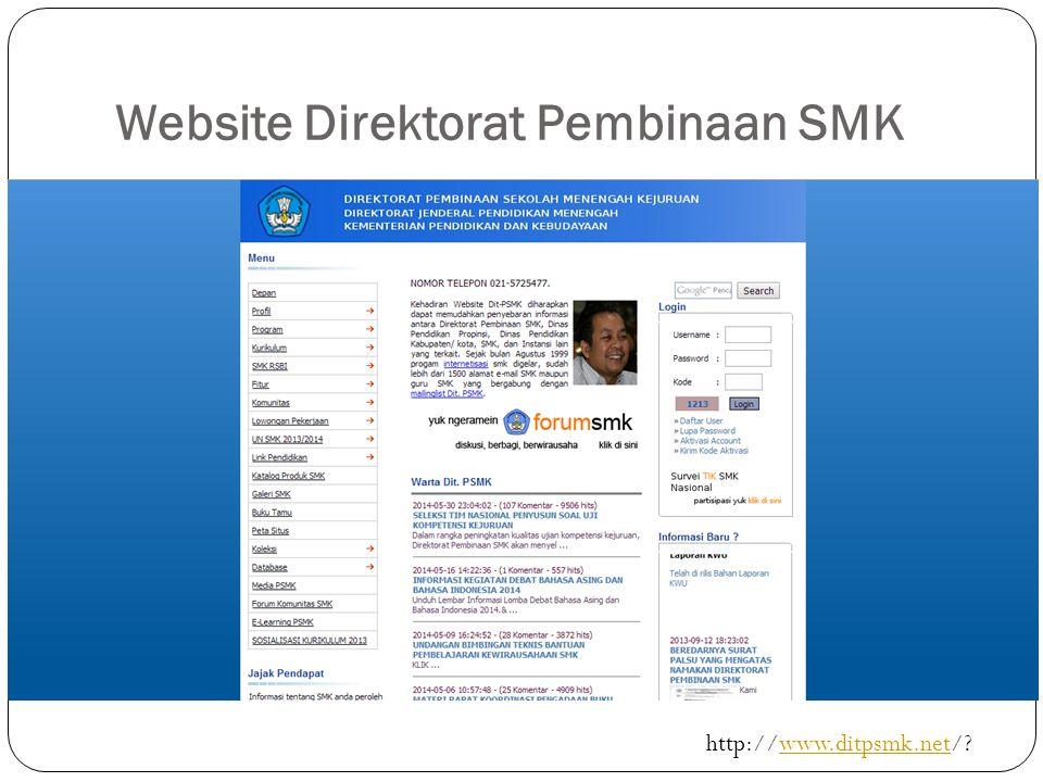 Website Direktorat Pembinaan SMK