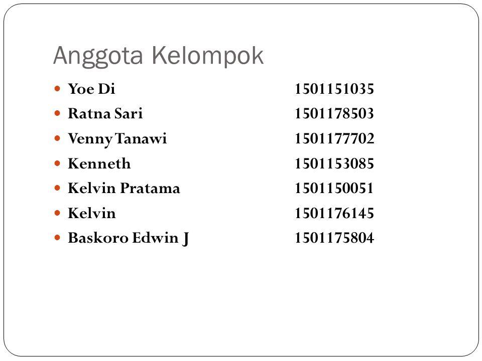 Anggota Kelompok Yoe Di 1501151035 Ratna Sari 1501178503