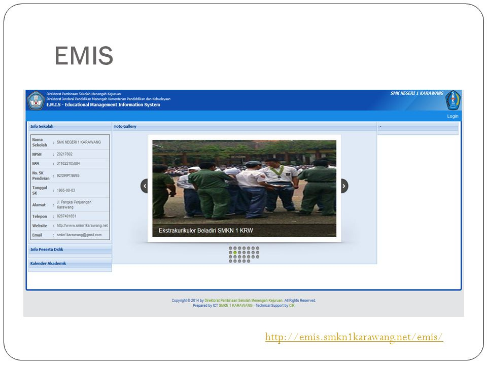 EMIS http://emis.smkn1karawang.net/emis/