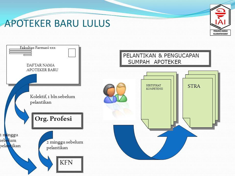APOTEKER BARU LULUS Org. Profesi KFN