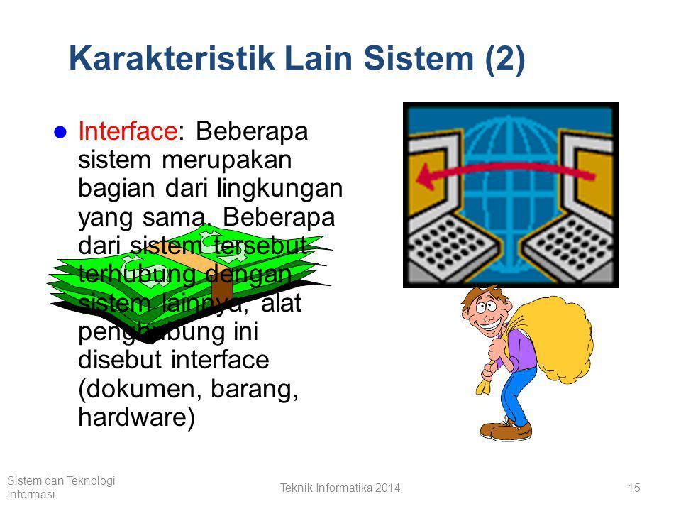 Karakteristik Lain Sistem (2)