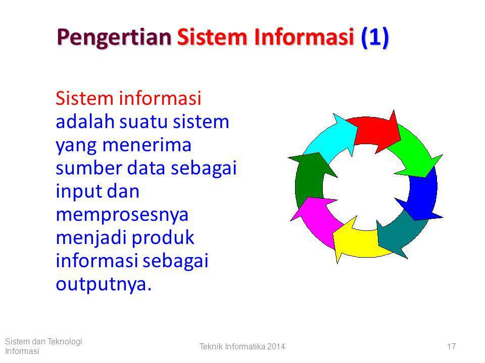 Pengertian Sistem Informasi (1)
