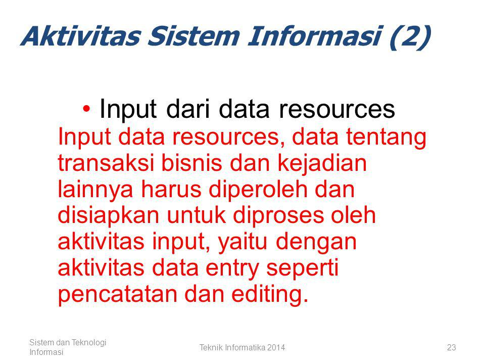 Aktivitas Sistem Informasi (2)