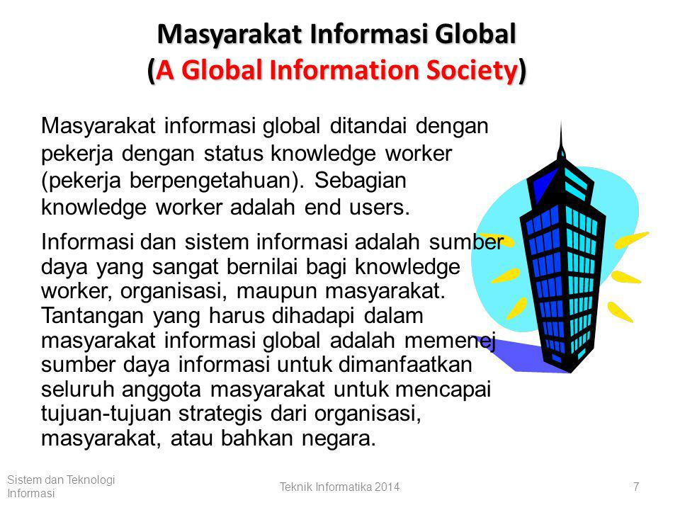 Masyarakat Informasi Global (A Global Information Society)