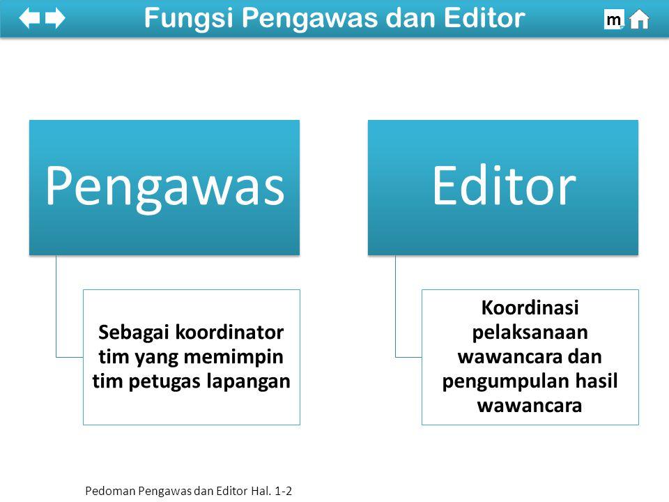 Fungsi Pengawas dan Editor
