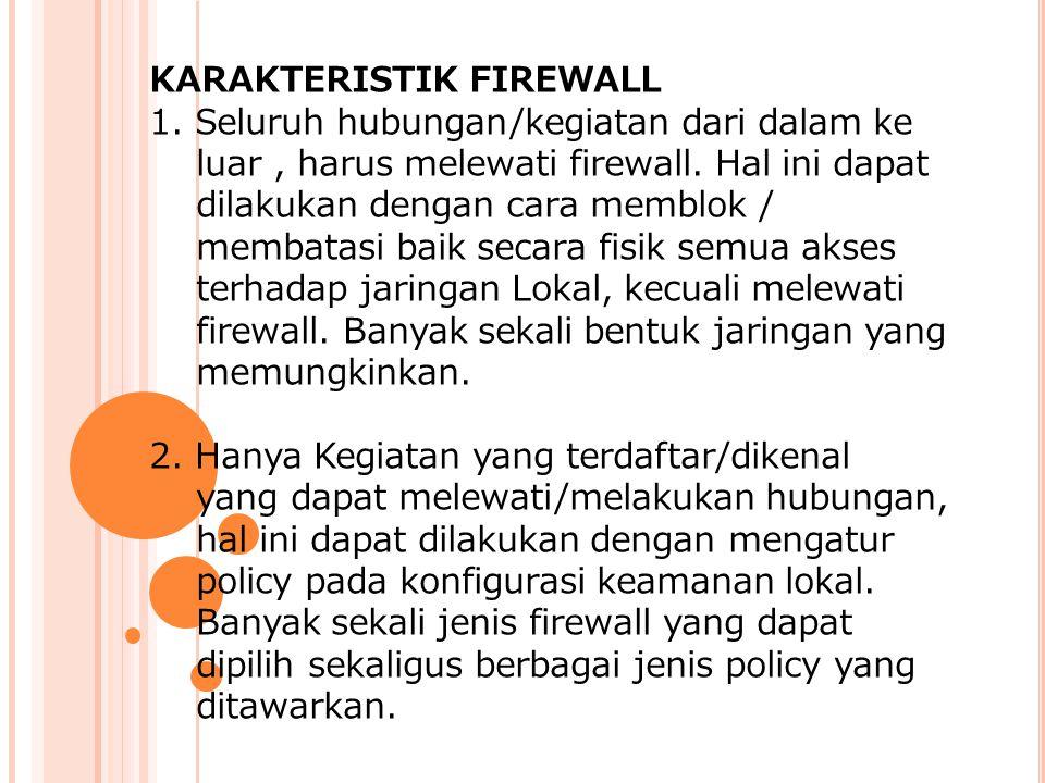 KARAKTERISTIK FIREWALL