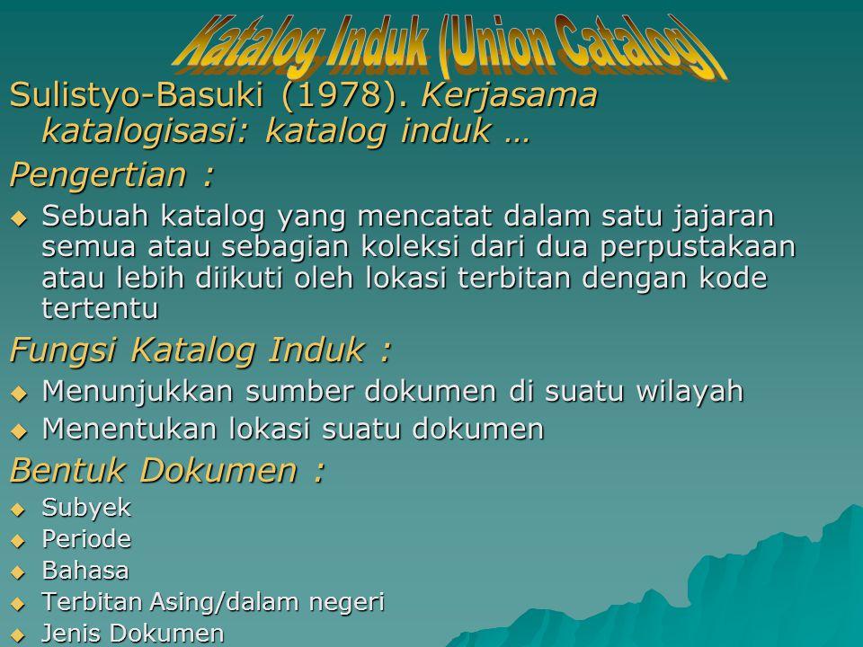 Katalog Induk (Union Catalog)