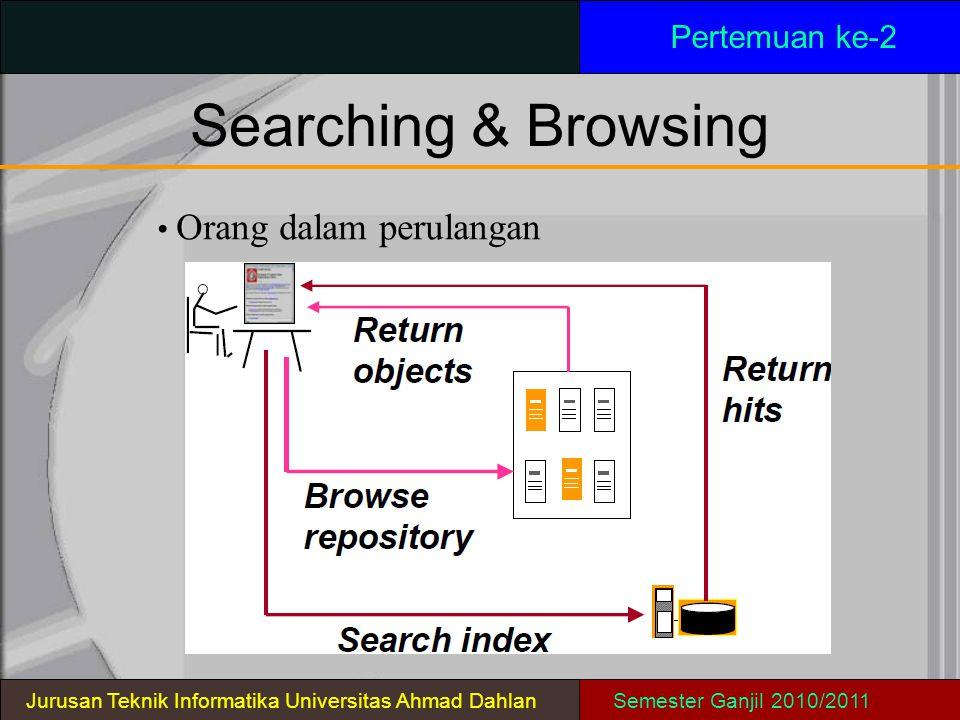 Searching & Browsing Pertemuan ke-2 • Orang dalam perulangan