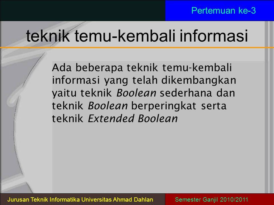 teknik temu-kembali informasi