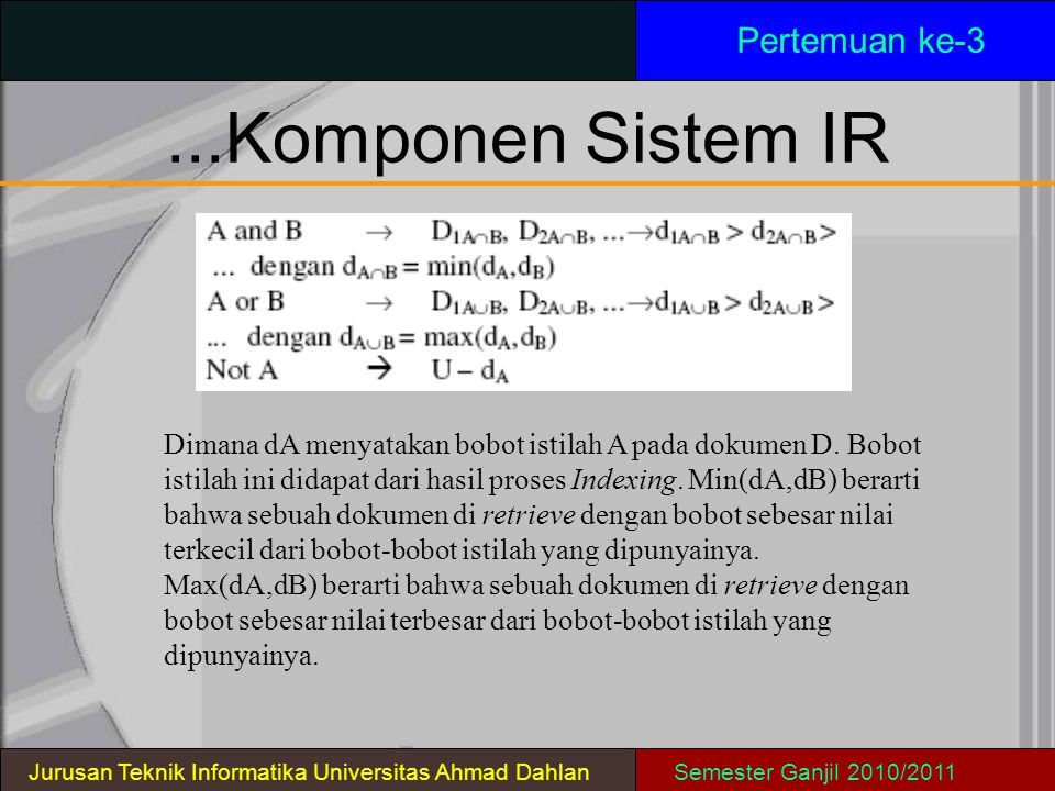 ...Komponen Sistem IR Pertemuan ke-3
