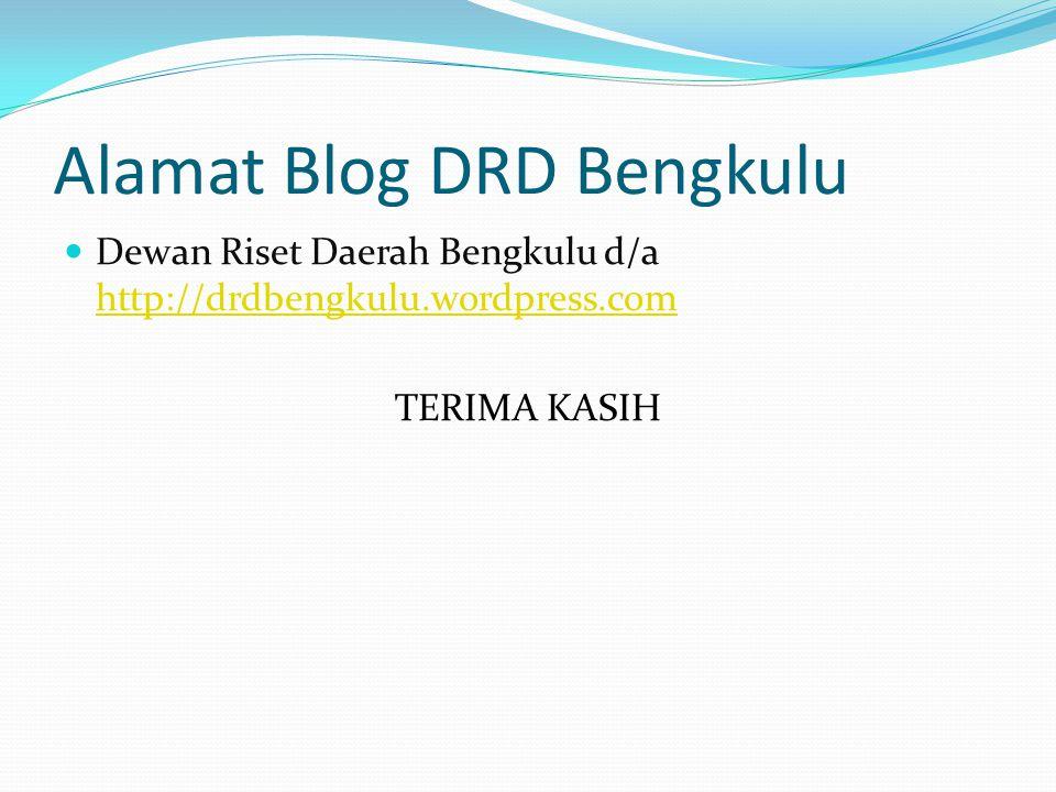 Alamat Blog DRD Bengkulu