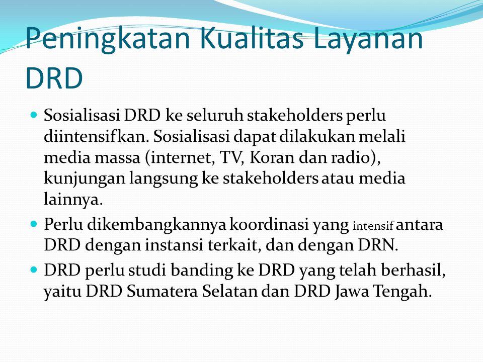 Peningkatan Kualitas Layanan DRD