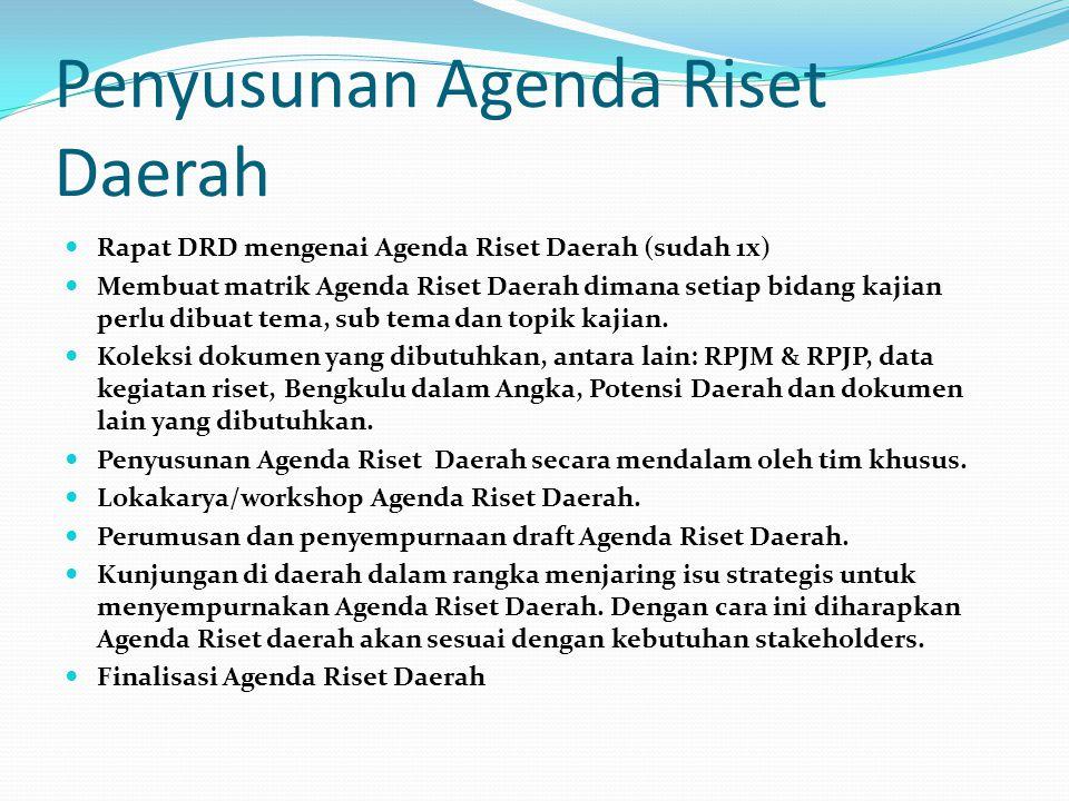 Penyusunan Agenda Riset Daerah
