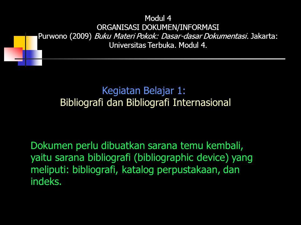 Bibliografi dan Bibliografi Internasional