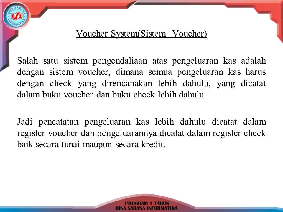 Voucher System(Sistem Voucher)