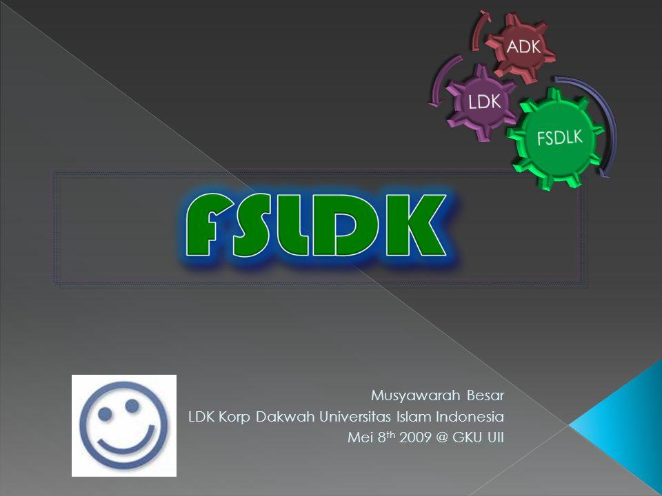 LDK Korp Dakwah Universitas Islam Indonesia Mei 8th 2009 @ GKU UII