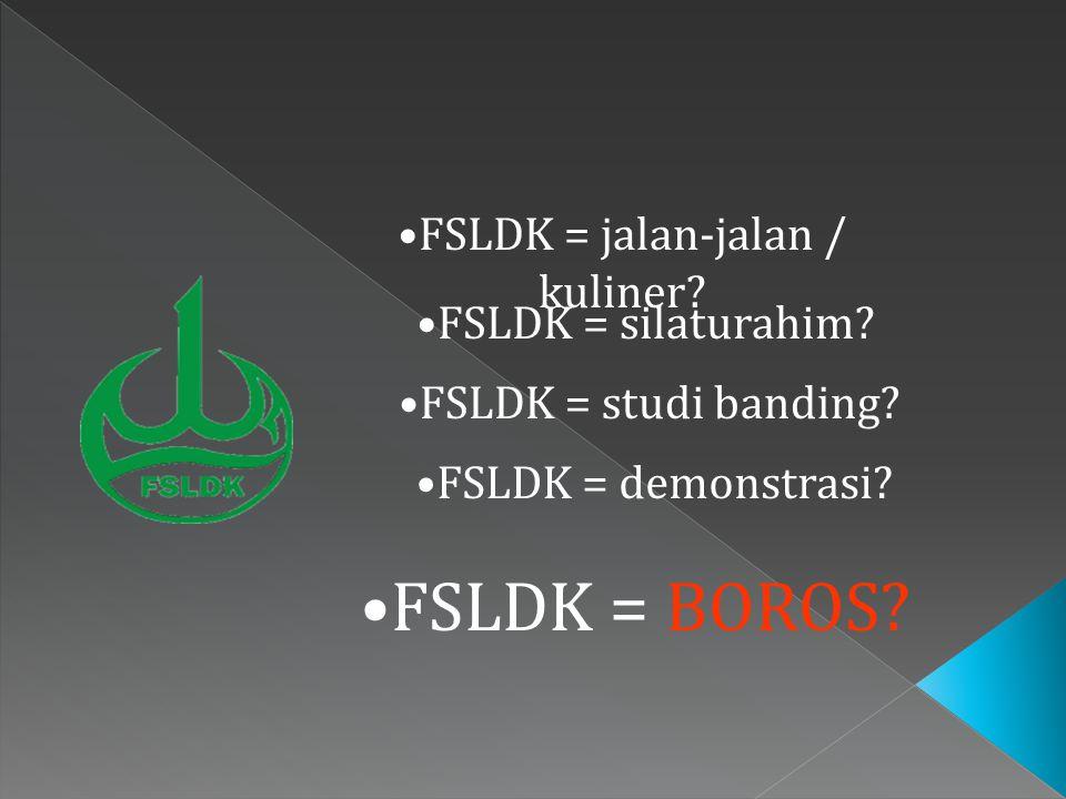FSLDK = jalan-jalan / kuliner