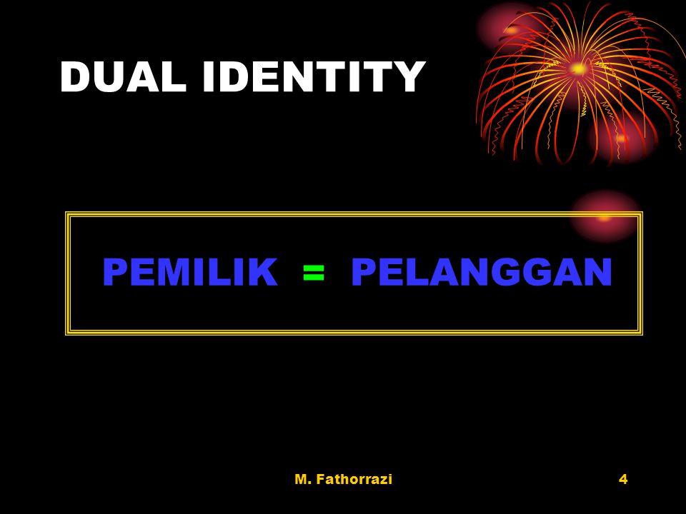 DUAL IDENTITY PEMILIK = PELANGGAN M. Fathorrazi