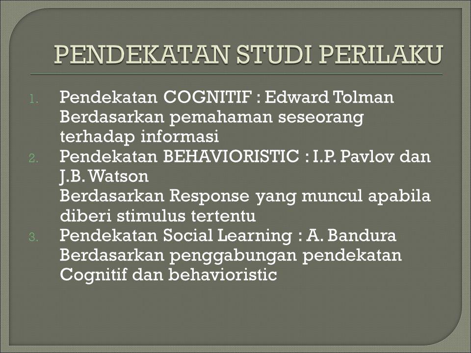 PENDEKATAN STUDI PERILAKU