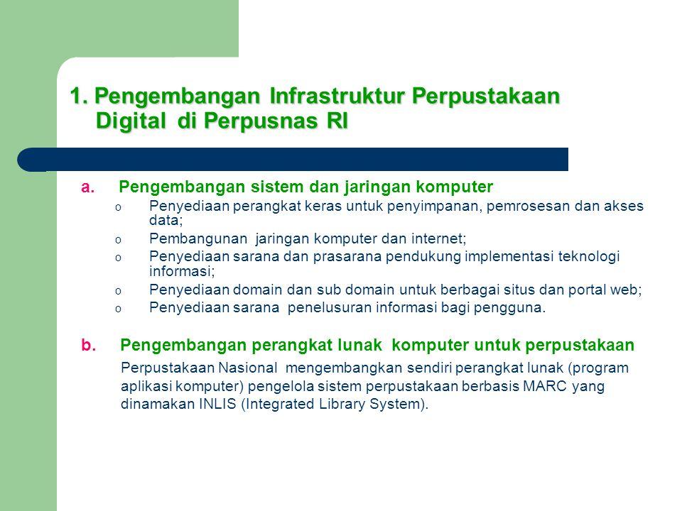 1. Pengembangan Infrastruktur Perpustakaan Digital di Perpusnas RI