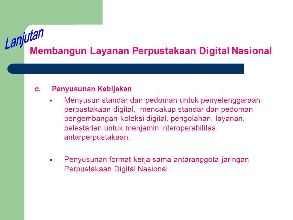 Membangun Layanan Perpustakaan Digital Nasional