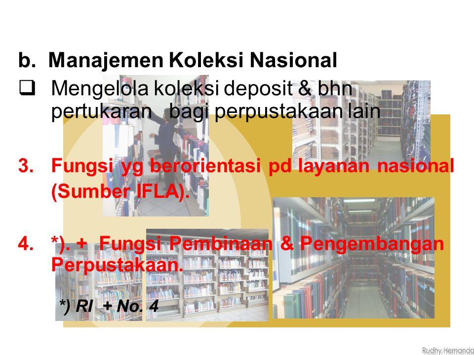 b. Manajemen Koleksi Nasional