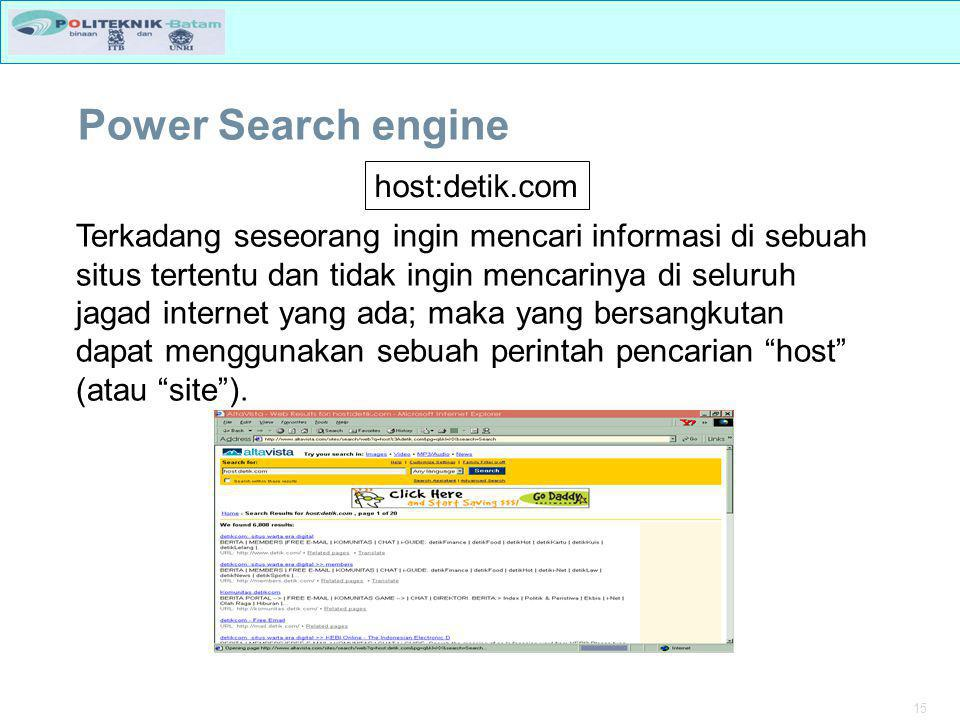 Power Search engine host:detik.com