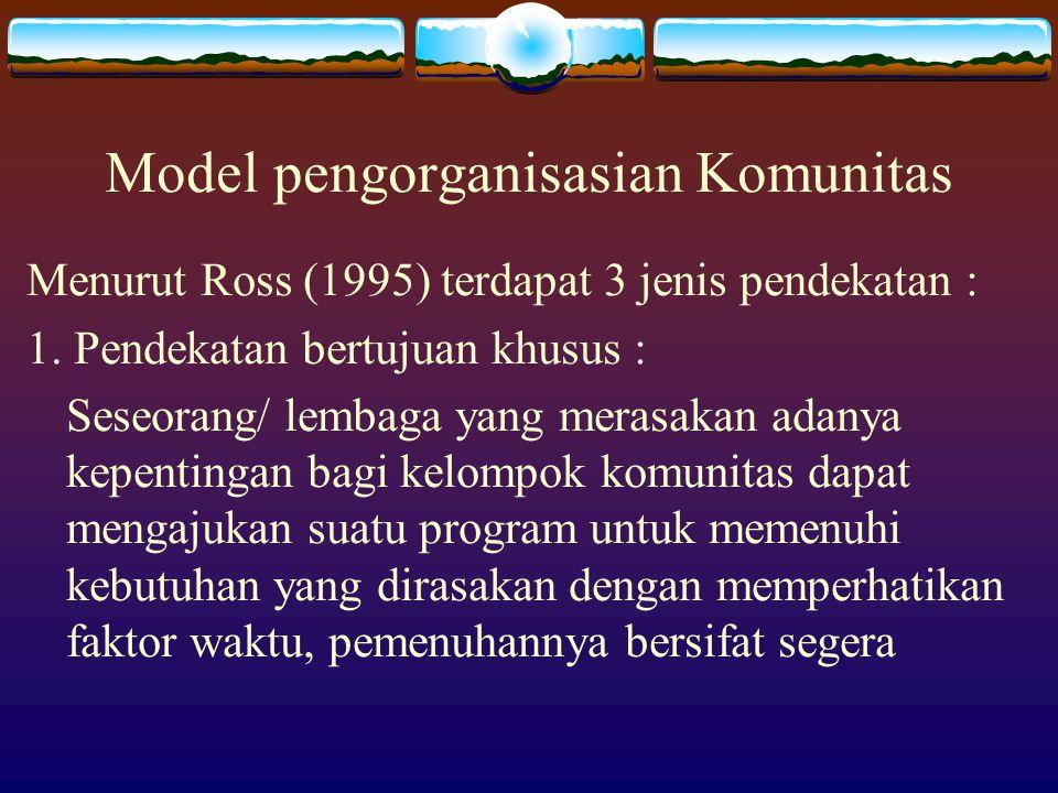 Model pengorganisasian Komunitas