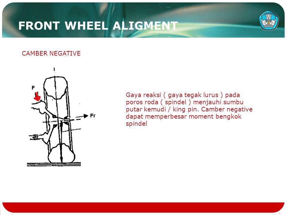 FRONT WHEEL ALIGMENT CAMBER NEGATIVE