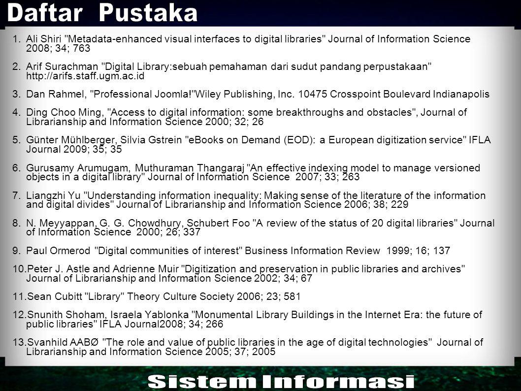 Daftar Pustaka Sistem Informasi