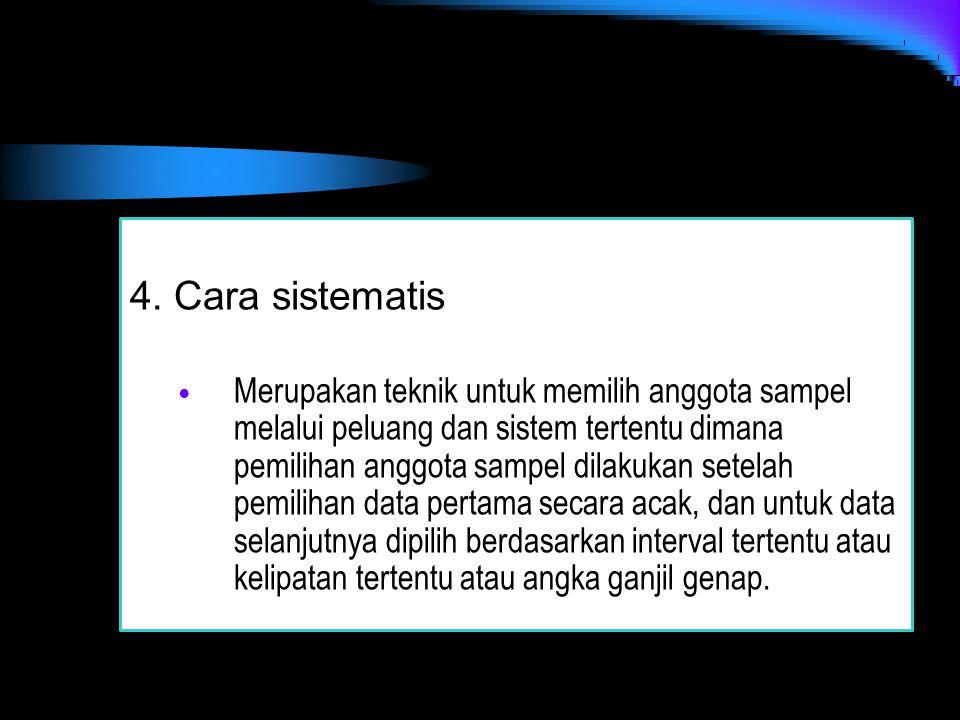 4. Cara sistematis