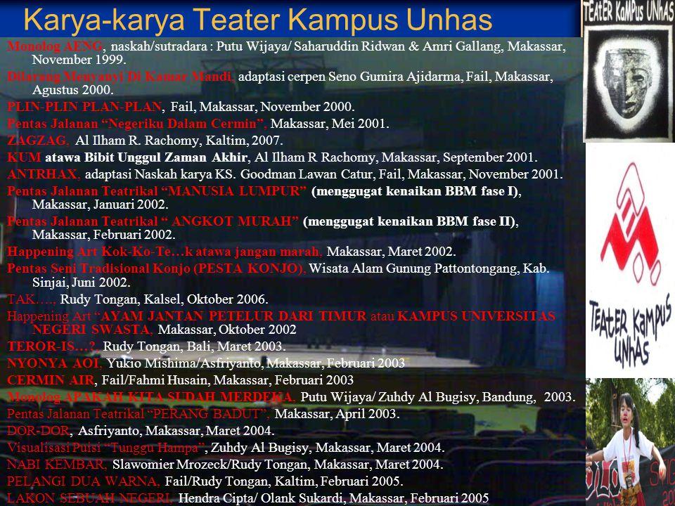 Karya-karya Teater Kampus Unhas