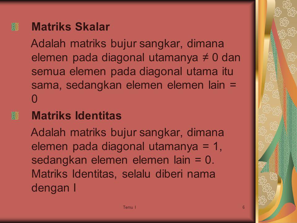 Matriks Skalar