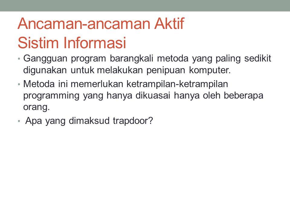 Ancaman-ancaman Aktif Sistim Informasi