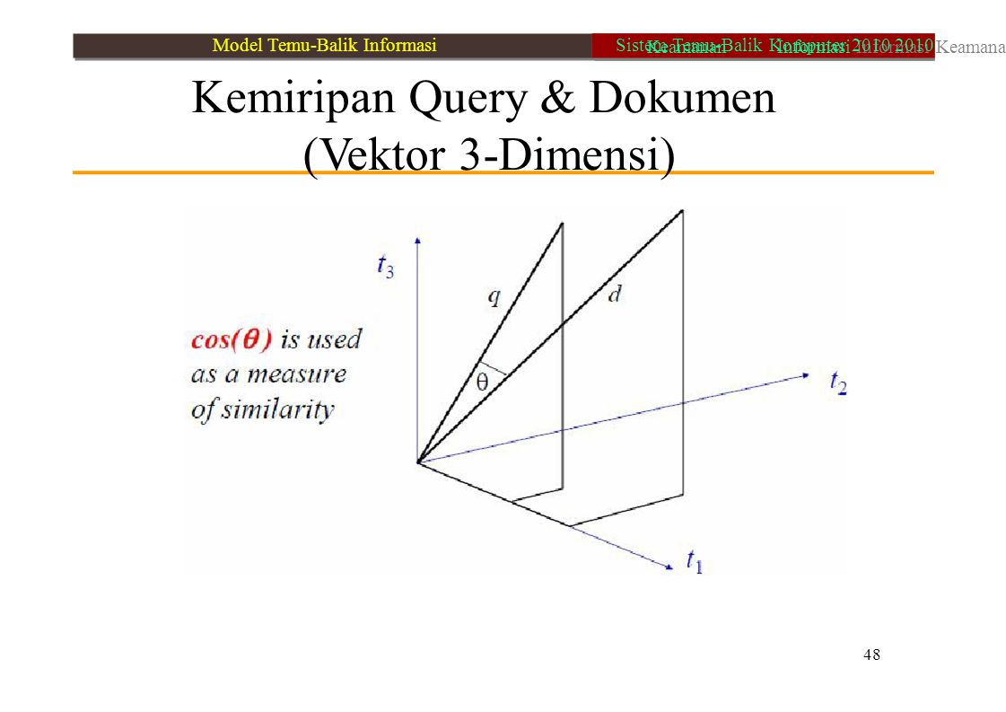Kemiripan Query & Dokumen