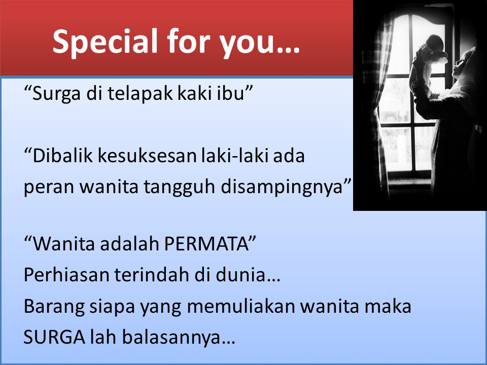 Special for you…