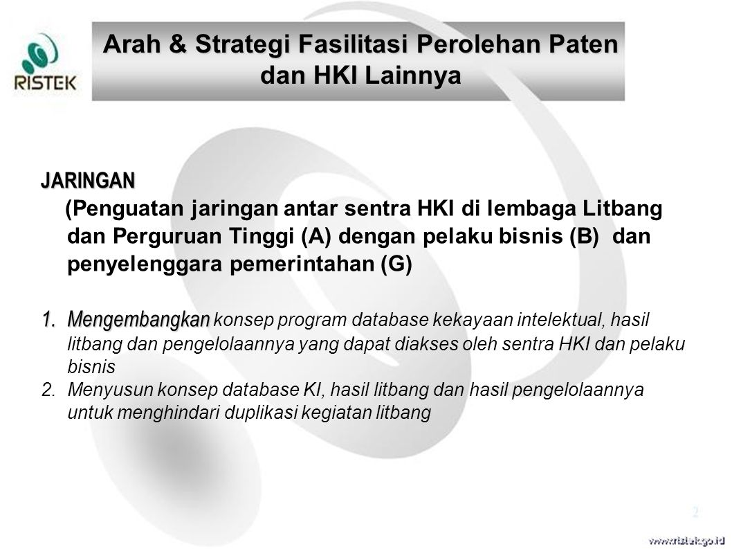 Arah & Strategi Fasilitasi Perolehan Paten