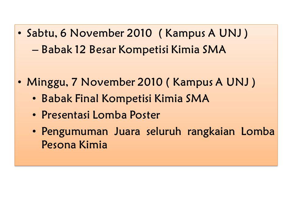 Sabtu, 6 November 2010 ( Kampus A UNJ )