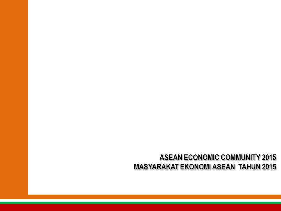 ASEAN ECONOMIC COMMUNITY 2015 MASYARAKAT EKONOMI ASEAN TAHUN 2015