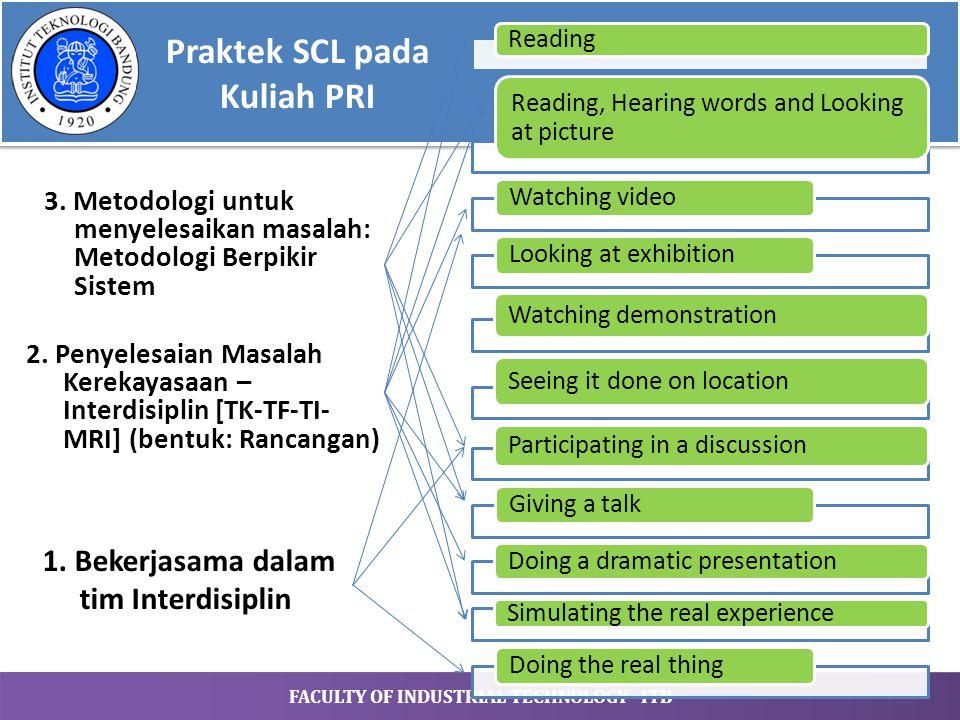 Praktek SCL pada Kuliah PRI