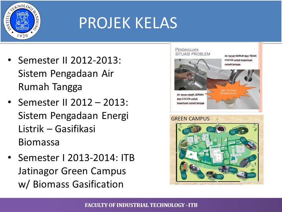 PROJEK KELAS Semester II 2012-2013: Sistem Pengadaan Air Rumah Tangga
