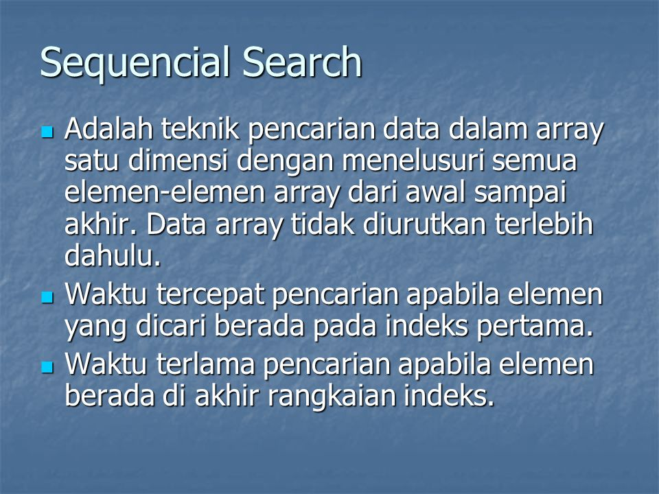 Sequencial Search