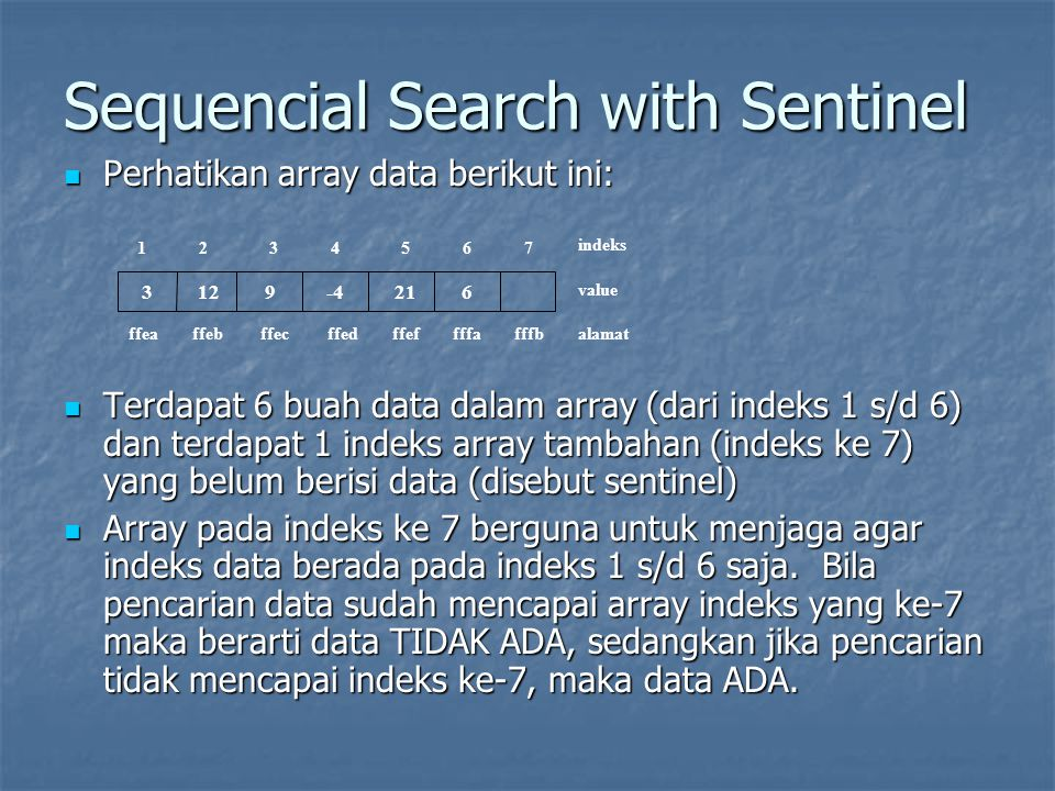 Sequencial Search with Sentinel