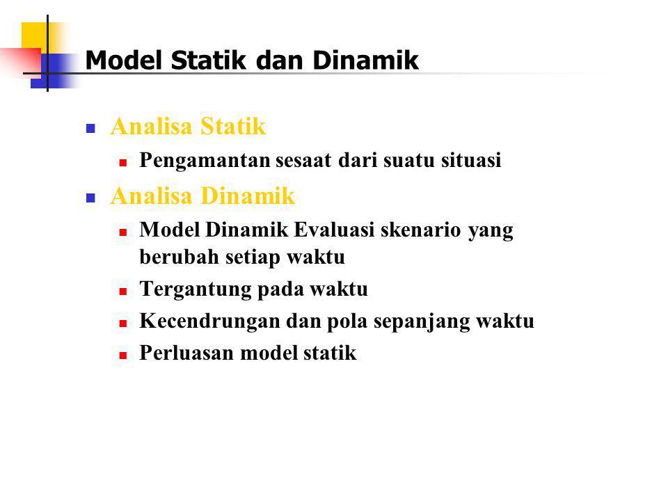 Model Statik dan Dinamik