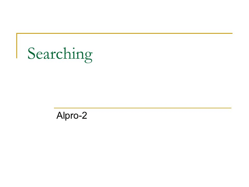 Searching Alpro-2