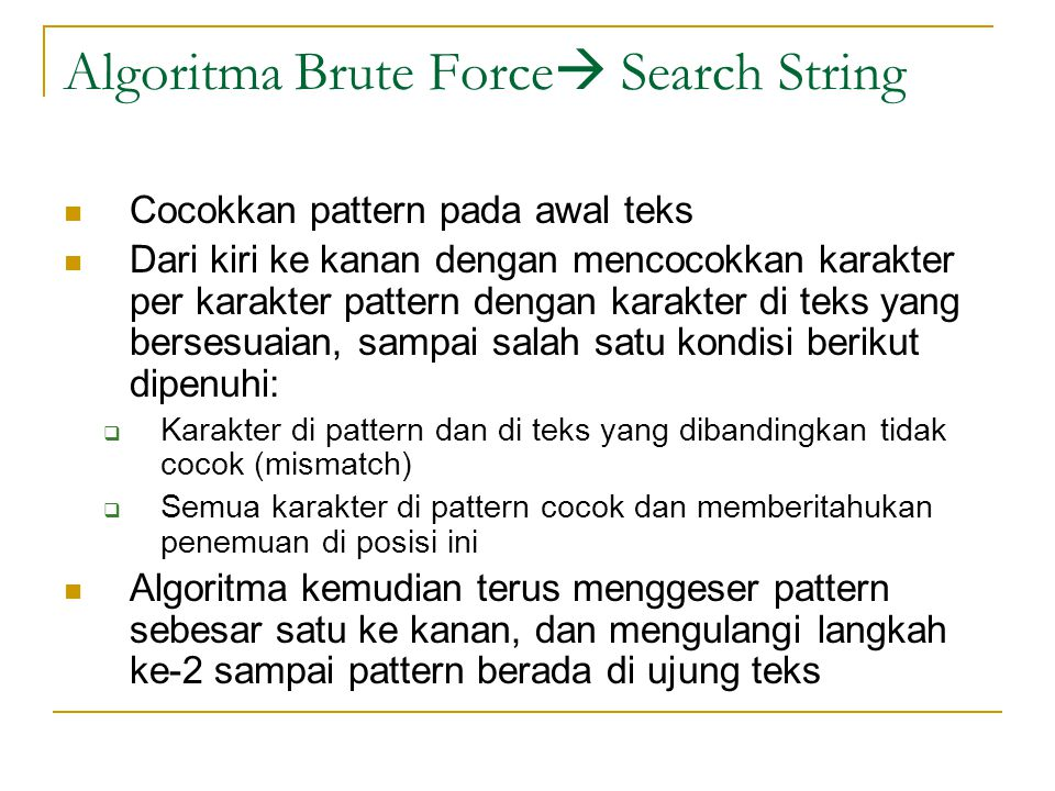 Algoritma Brute Force Search String